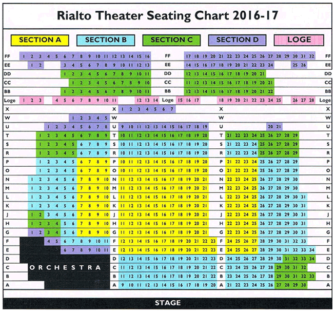 Tacoma Opera Seating Charts