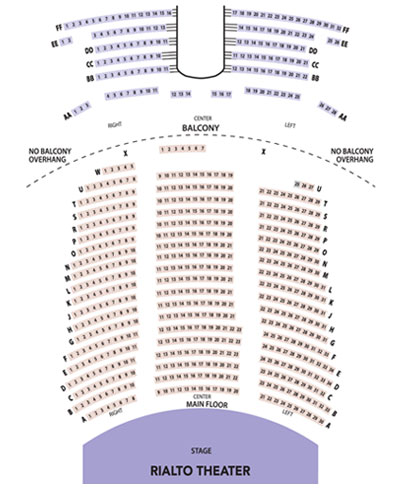 Rialto Theater Seating Chart for Broadway Center Events