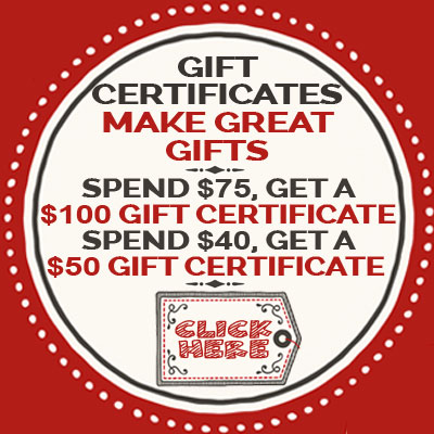 Cyber Monday 2017 Gift Certificates